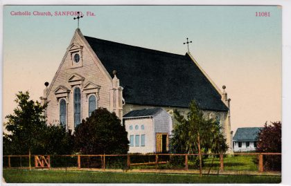 Postcard of the 1887 All Souls Catholic Church