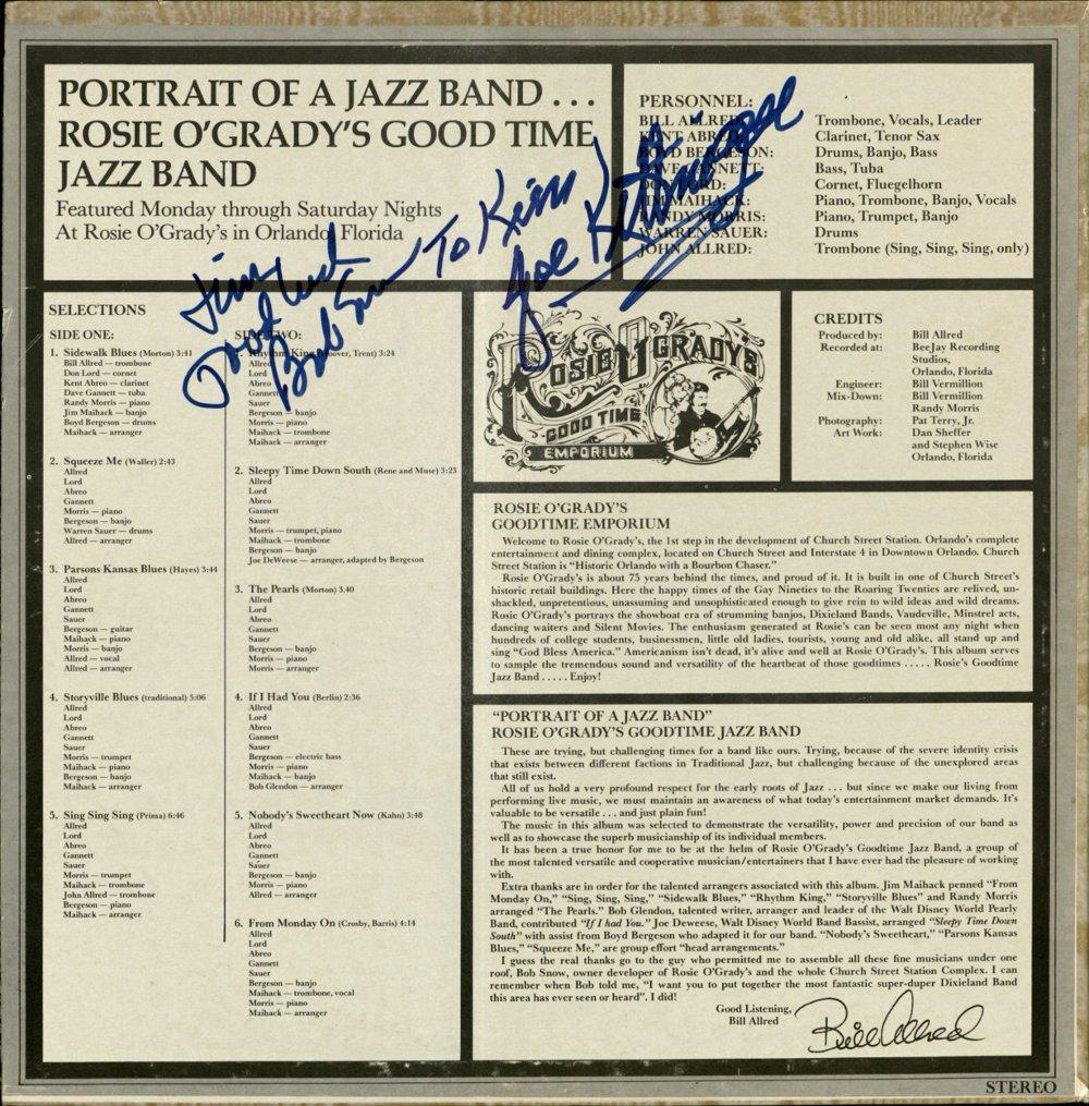 Album back - Portrait of a Jazz Band