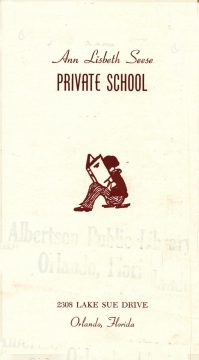 Brochure cover Ann Lisbeth Seese Private School