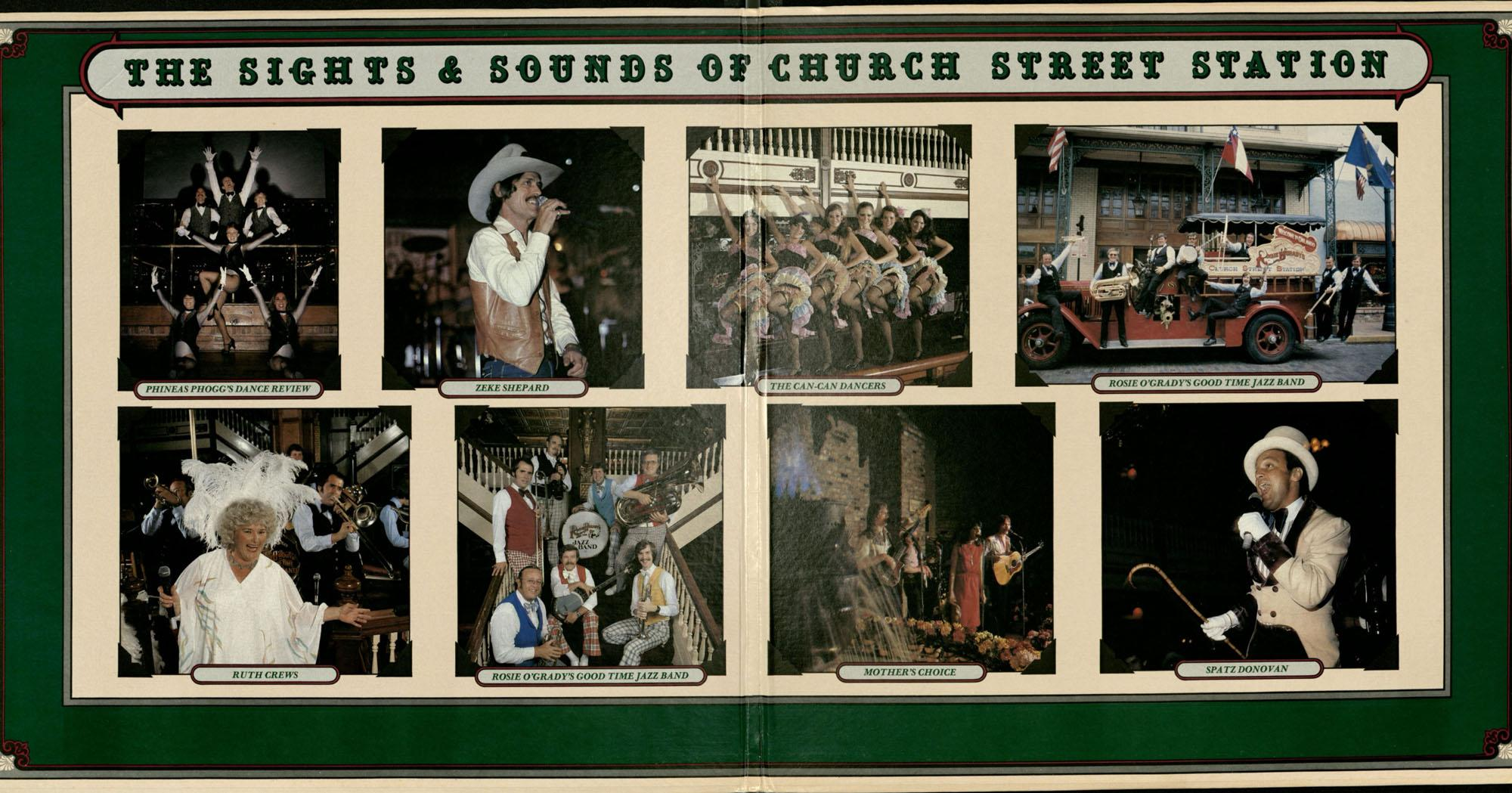 Sights and Sounds of Church Street Station fold out album cover