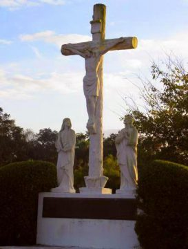 Photo of the Calvary monument at All Souls Catholic Cemetery